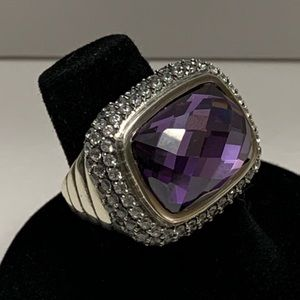 David Yurman Weverly amethyst & gray sapphire ring